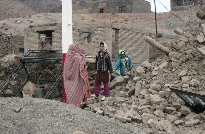 The aftermath of the earthquake (Photo: Mojtaba Gorgi / MEHR News / AFP)