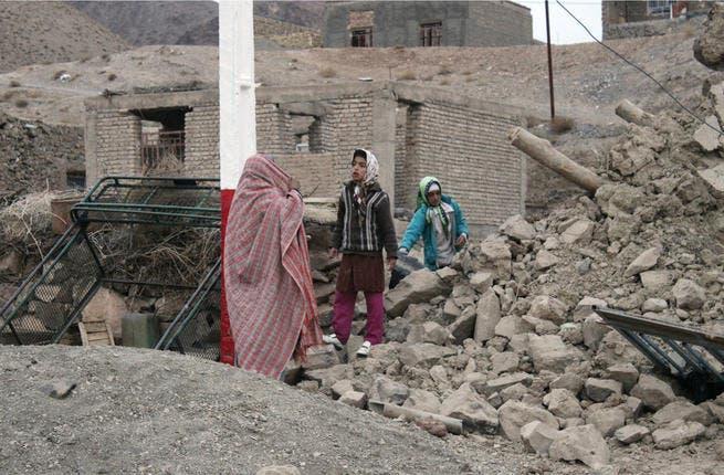 The aftermath of the earthquake (Photo: Mojtaba Gorgi / MEHR News / AFP)