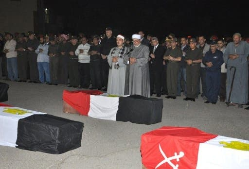 The attacks in Sinai Wednesday killed 11 soldiers (AFP)
