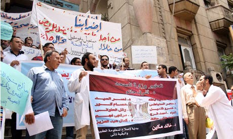 Egypt's doctors previously went on strike in March 2013 as well (Courtesy of Ahram Online)
