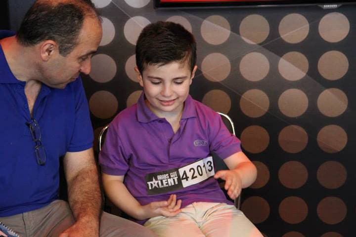 Eight-year-old Nael Traboulsi made it through his house being bombed in Syria to the AGT stage (Image: Facebook)