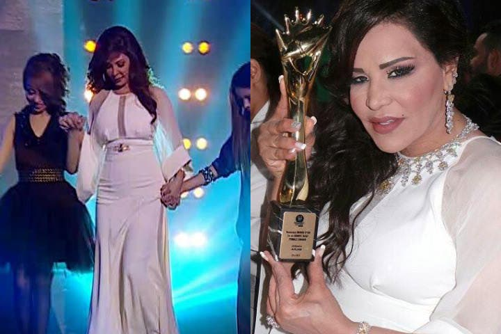 Competing ladies? Elissa and Ahlam have no problem with wearing the same dress! (Image: Facebook)