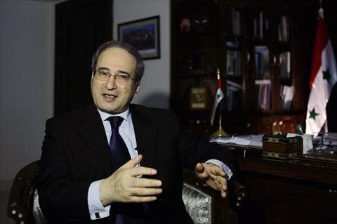 Syrian deputy Foreign Minister, Faisal Muqdad, warned that the Syrian government would not back down in the face of a western strike on Syria, even if World War Three kicks off. (AFP)