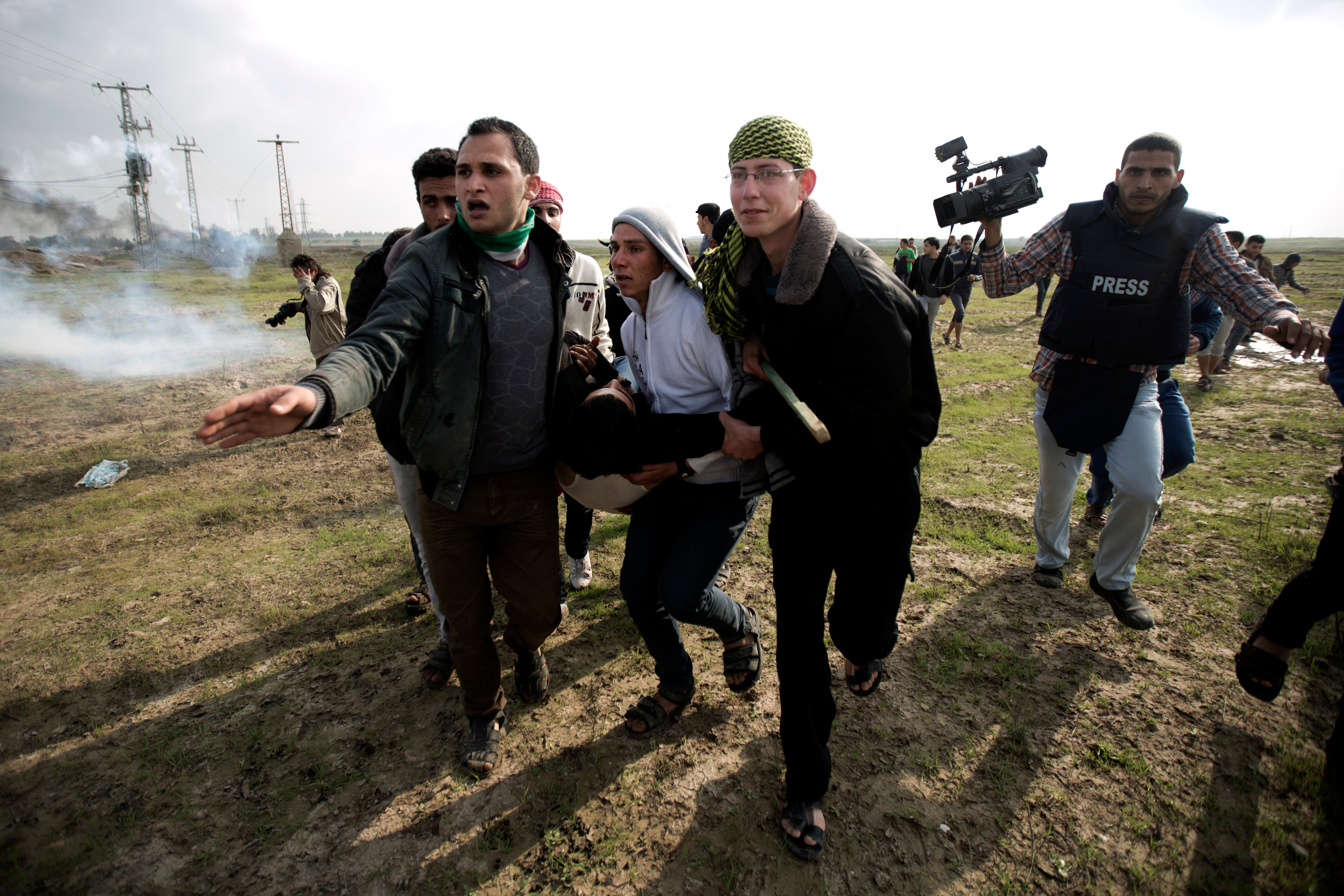Israeli troops recently fired tear gas at Gazan protestors on the border last week, wounding two Palestinians (Mohammed Abed/AFP)