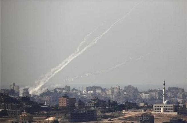 A rocket fired from Gaza hot southern Israel early on Tuesday. [File photo]