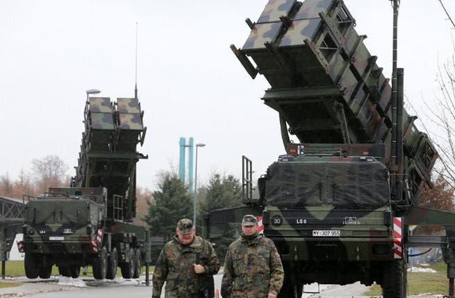 Patriot missile launchers