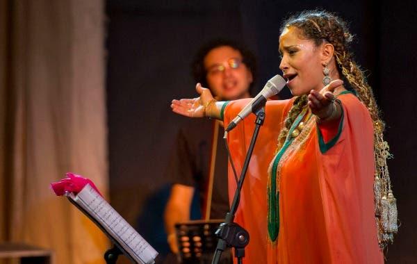 Ghalia Ben Ali performing at Hayy festival at El-Genaina theater. (Image: Bassam Al-Zoghby)
