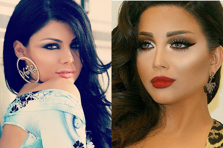 Sisters Haifa Wehbe and Rola Yamout are on very bad terms. (Image: Facebook)
