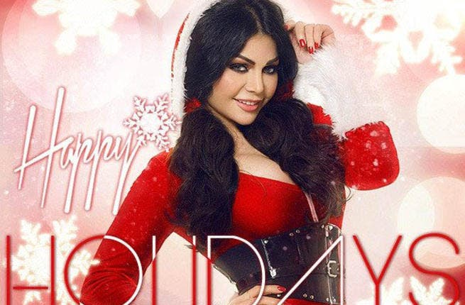 Haifa Wehbe has gonna all festive on her Twitter feed