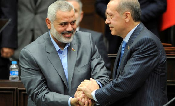 Turkish PM Erdogan has met previously with other Hamas leaders such as Ismail Haniyeh within the past year (Reuters)