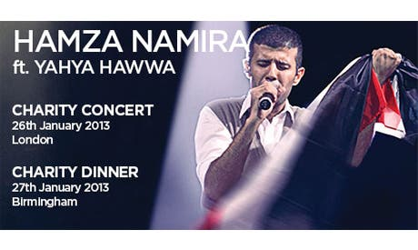 Hamza Namira performs in UK fundraiser for medical equipment for Egypt