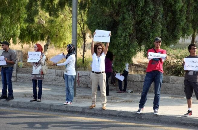 The human chain of anti-harassment activists in Amman
