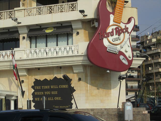 The Hard Rock Cafe in Beirut, Lebanon, has shut down (image courtesy of Flikr)