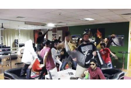 Screengrab from the 'Do The Harlem Shake SAE Dubai - Da Fak Habibi' video filmed at the SAE Institute in Dubai.