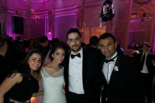 Hassan al Shafei's wedding was a glamorous affair.