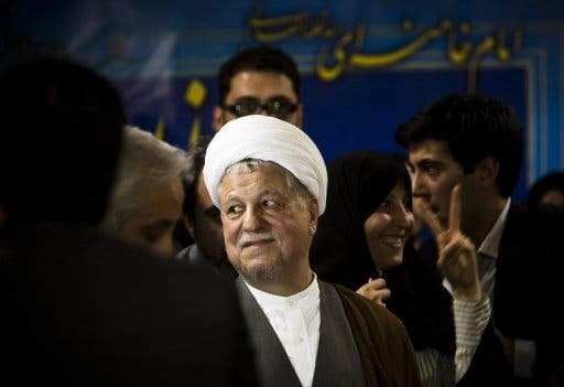 Akbar Hashemi Rafsanjani registering as a candidate for the 2013 Iranian presidential elections(AFP)