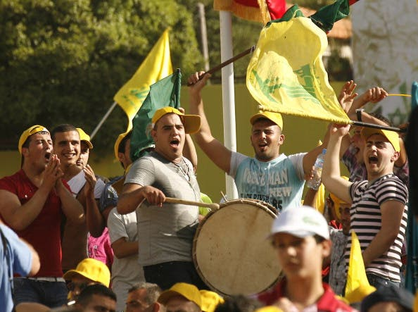 Hezbollah supporters at a rally in Lebanon (file photo)