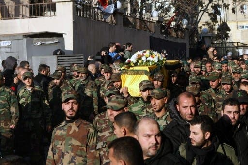 Hezbollah soldiers have been supporting regime fighters within Syria. One of Hezbollah's Lebanese commanders was recently killed in a battle near Damascus (AFP)