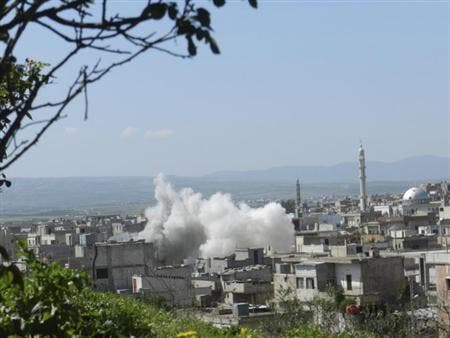 The Syrian government has shelled other Sunni areas in the country such as villages in Homs (Reuters)