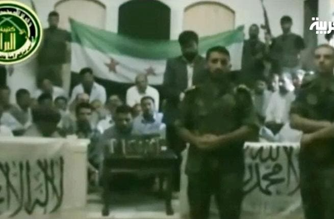 A still from the video released to Arabiya by the FSA.