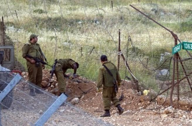 Israeli soldiers in the Golan