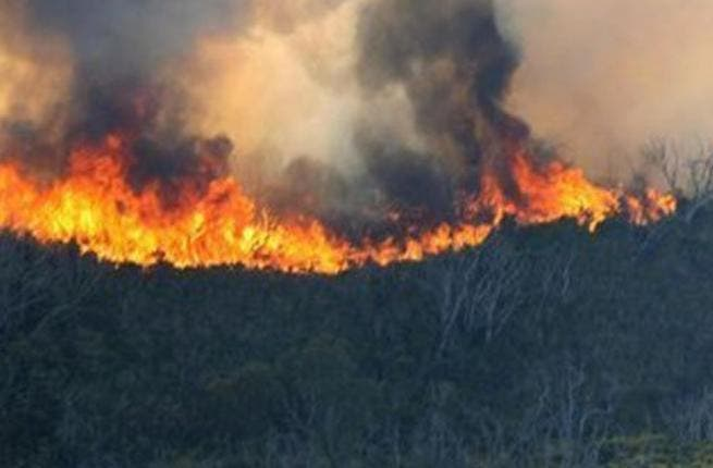 Huge fire