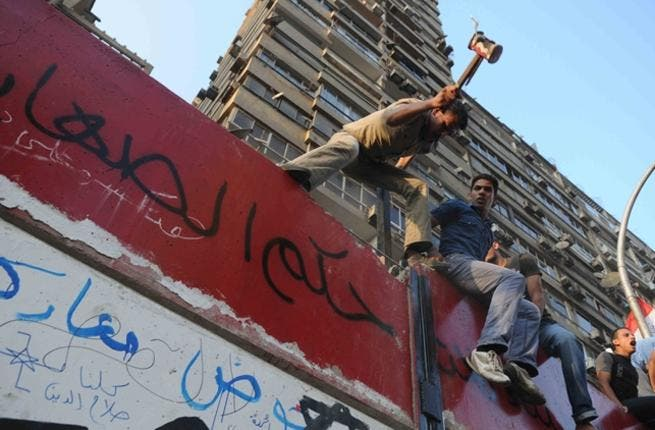 Cairo goes up in walls: A while ago, Egypt barricaded its Israeli embassy with a wall