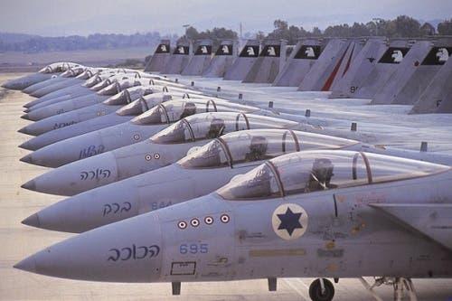 IDF warplanes. For illustrative purposes from aviationintel.com