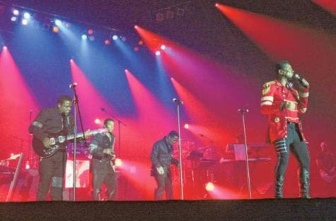 The Jacksons perform during their 'Unity Tour' at the du Forum on Yas Island, Abu Dhabi (Photo courtesy of Abdul Rahman / Gulf News)