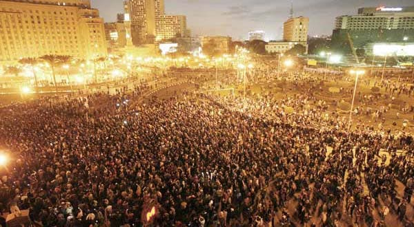 January 25 Revolution: Over two million protesters gathered in Tahrir Square (Photo: movements.org)