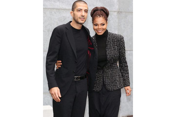 Wissam al Mana and Janet Jackson attending the Giorgio Armani fashion show during Milan Fashion Week (Photo by Vittorio Zunino Celotto/Getty Images)