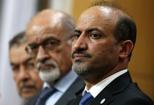 Syrian opposition National Coalition (SNC) leader Ahmad Jarba met with Friends of Syria representatives in London ahead of November's meeting in Istanbul where all opposition parties will collectively decide whether to attend peace talks in Geneva (Suzanne Plunkett/AFP)