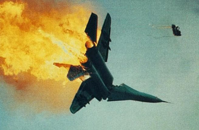 Turkish fighter jet downed by Syria (image used for illustrative purposes)