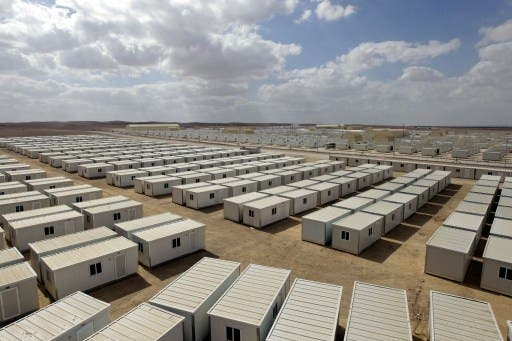 general view of the new Mrigeb al-Fuhud refugee camp, 20 kilometres east of the city of the Jordanian city of Zarqa, is seen as Jordan opened a second camp for Syrian refugees on Wednesday, after the United Nations said the number seeking shelter in the kingdom is expected to triple by the end of the year. (Photo: AFP / KHALIL MAZRAAWI)