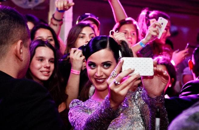 American popstar Katy Perry was at the event