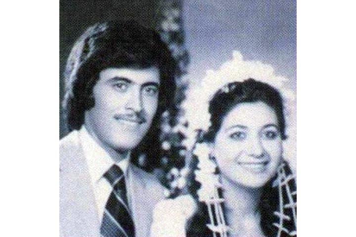 Kazem El Saher on his wedding day 34 years ago. (Image: