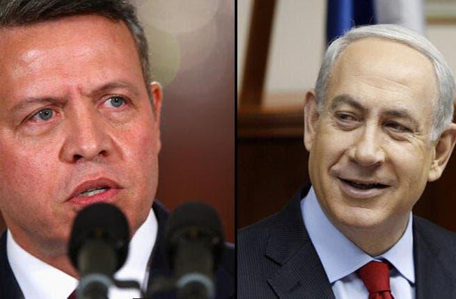 King Abdullah (L) and Binyamin Netanyahu (R).