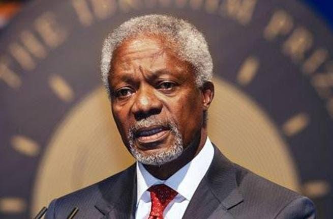 Former UN-Arab League envoy Kofi Annan