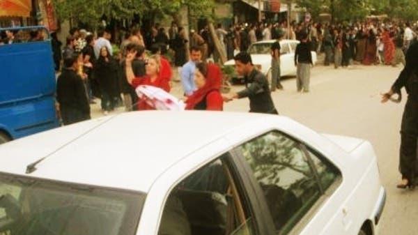 Part of the demonstrations organised by Feminist Kurdish Union in Iran. (Photo courtesy: NNSROJ).