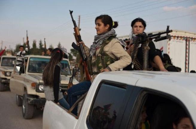 Kurdish fighter on patrol in Syria. (AFP)