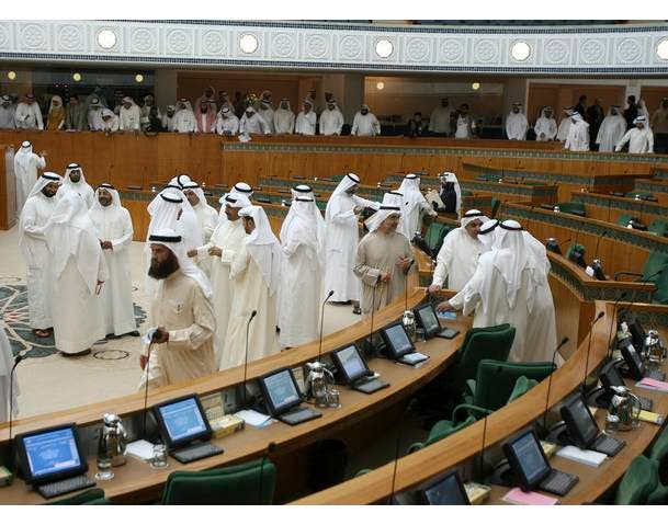 HH Amir chairs emergency meeting on parliament disorder event. Kuwait is today at the center of protesting Arabia.
