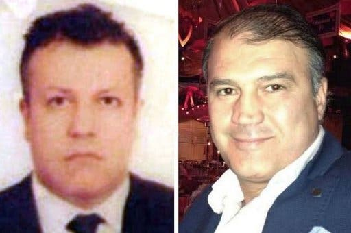 A composite of two undated file pictures obtained from the Turkish Ihlas news agency shows Turkish Airlines pilot Murat Akpinar (R) and his co-pilot Murat Agca, kidnapped on August 9, 2013 in Beirut. (IHLAS NEWS AGENCY / IHA / AFP)