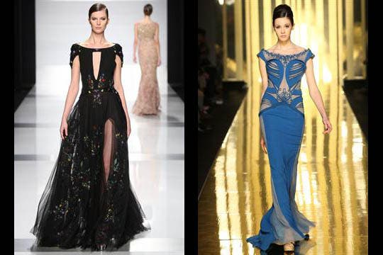 Tony Ward and Mireille Daghers' designs hit the Italian cat walk