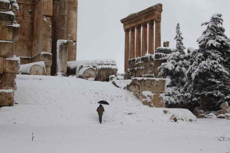 Lebanon has been crippled by winter storms as the government approves a new financial aid to those affected