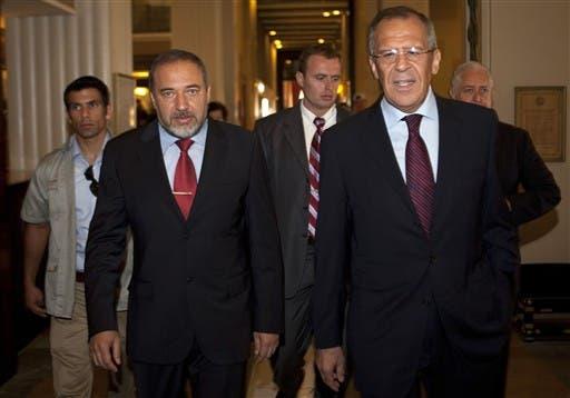 Avigdor Lieberman and Lavrov