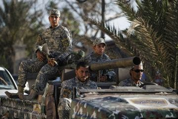 Militias, particularly those hailing from Misrata, have been ordered to leave the capital within 72 hours as of Monday (Gianluigi Guercia/AFP)