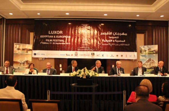 Panel at Luxor Film Festival Press Conference (Photo: Rowan El Shimi)