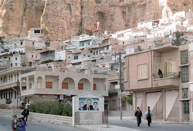 The Aramaic-speaking village of Maaloula was the scene of fierce clashes between Syrian troops and the Qaeda-linked Nusra front. (AFP/Getty)