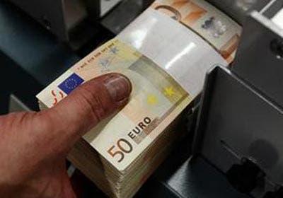 Stack of 50 euros bills