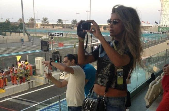 Maya Diab enjoying yet another rally, this time in Abu Dhabi